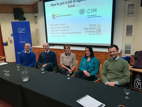 "What did we hear at the Royal AG University question time event – ""how to get a job in agriculture and food?"""